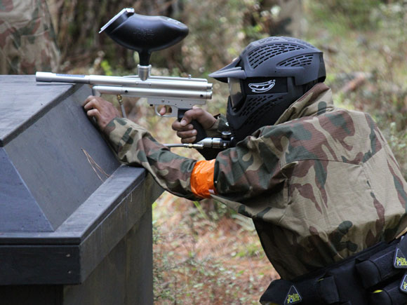 Resident Evil field at Delta Force Paintball Woodhill Auckland